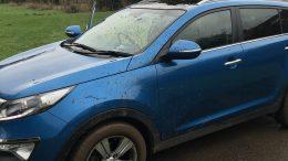 Muddy Geocaching Car