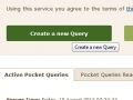 Create a new Pocket Query